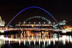 Puentes de Newcastle sobre Tyne Imágenes de archivo libres de regalías