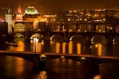 Puentes de Praga Foto de archivo
