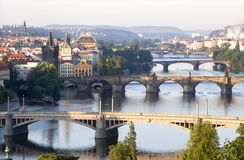 Puentes de Praga Imagen de archivo libre de regalías