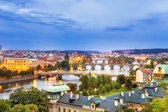Puentes de Praga Imágenes de archivo libres de regalías