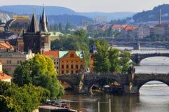 Puentes de Praga Fotografía de archivo