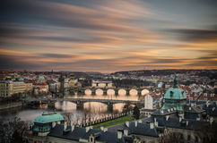 Puentes 2 de Pragues Imagen de archivo libre de regalías
