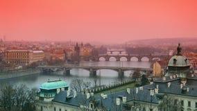 Puentes de Praque Imagen de archivo libre de regalías