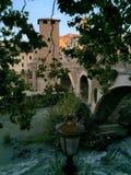 Puentes de Roma - Pons Fabricius imágenes de archivo libres de regalías