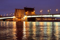 Puentes de St Petersburg Fotografía de archivo