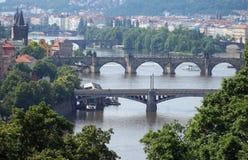 Puentes de Veltava en Praga fotos de archivo