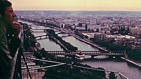 Puentes del río del sen almacen de metraje de vídeo