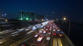 Puentes del yoido de la ciudad de Seul almacen de video