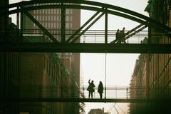 Puentes en la ciudad de Hamburgo imagen de archivo libre de regalías