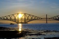 Puentes en la puesta del sol Fotos de archivo libres de regalías