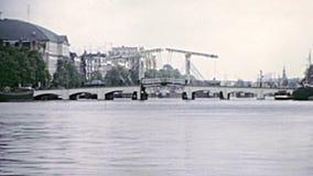 Puentes en 1970 s de Amsterdam almacen de video