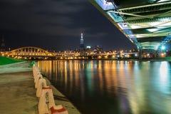 Puentes en Taipei Imagenes de archivo