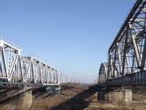 Puentes ferroviarios Imagen de archivo libre de regalías