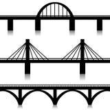 Puentes fijados Fotografía de archivo libre de regalías