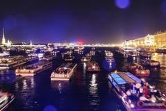 Puentes levadizos en St Petersburg Imagen de archivo libre de regalías