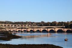 Puentes sobre el tweed del río, Berwick, Northumberland imagen de archivo