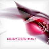 Pueple Christmas blurred waves and snowflakes Stock Photos
