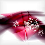Pueple Christmas blurred waves and snowflakes Royalty Free Stock Photography