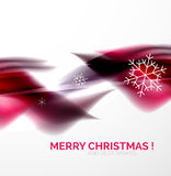 Pueple Christmas blurred waves and snowflakes Royalty Free Stock Images