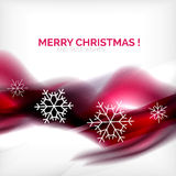 Pueple Christmas blurred waves and snowflakes Stock Image