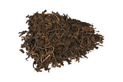 Puer (pu-erh) black elite tea isolated on white Royalty Free Stock Images