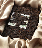 Puer tea Brick Royalty Free Stock Images