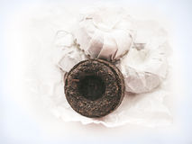 Puer tea  on white background Stock Photo