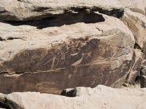 Puerco印第安废墟刻在岩石上的文字 库存图片