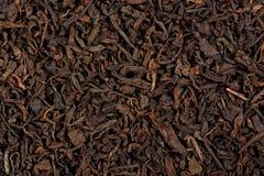 普洱哈尼族彝族自治县未加工的茶 Puerh在砖形状的茶 宏指令接近的视图 库存图片