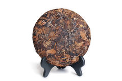 Puerh herbaty Surowy tort Obrazy Royalty Free