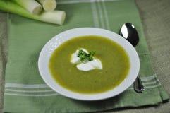 Puerro - sopa de patata Fotos de archivo libres de regalías