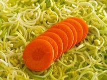 Puerro y zanahoria fotos de archivo