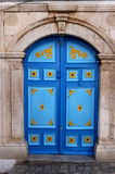 Puerta árabe azul Foto de archivo
