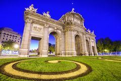 puerta Испания alcala de строба историческое обнаруженное местонахождение madrid Стоковое Изображение