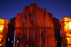 Puerta 01 de la noche Fotografía de archivo libre de regalías