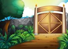 Puerta stock de ilustración