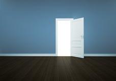 Puerta abierta aislada stock de ilustración
