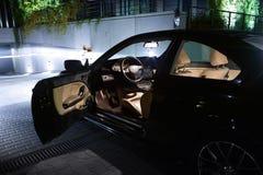 Puerta abierta, cupé de BMW E46 Imágenes de archivo libres de regalías