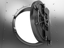Puerta abierta de la batería stock de ilustración