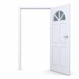 Puerta abierta del blanco libre illustration