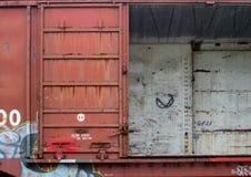 Puerta abierta del coche de carril Fotos de archivo libres de regalías