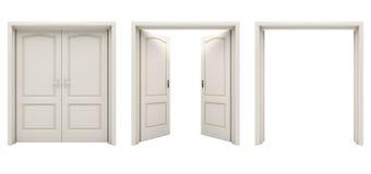 Puerta abierta doble Imagenes de archivo