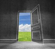 Puerta abierta en cielo Foto de archivo libre de regalías