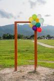 Puerta abierta y globo Fotografía de archivo libre de regalías