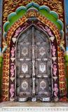 Puerta adornada colorida del templo Imagen de archivo libre de regalías