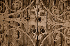Puerta adornada del castillo de la vendimia Imagenes de archivo