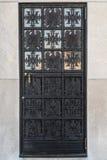 Puerta adornada del metal fotografía de archivo libre de regalías