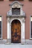 Puerta adornada en Gdansk Imágenes de archivo libres de regalías