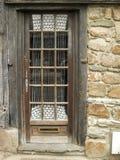 Puerta agradable de madera vieja Imagenes de archivo
