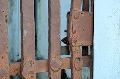 Puerta aherrumbrada Fotografía de archivo